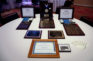 plaques for awards at graduation dinner