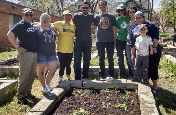 Students at Community Garden